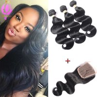 Brazilian Hair Weaves With Closure Human Hair Wefts With Lac...