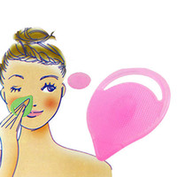 12 pçs / lote Escova Esfoliante de Limpeza Facial Gel De Sílica Manual de Limpeza Da Pele Scrubber Scrubber Massagem Remover Blackheads Esfoliante