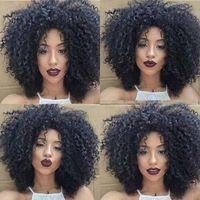 top femmes de qualité charmante perruque frisée Simulation africaine Ameri Kinky Livraison gratuite perruque frisée complète