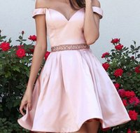 Short Red Homecoming Dresses 2017 Off Shoulder Crystal Keen ...