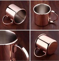 Stainless Steel Copper Cups Moscow Mule Copper Mug Cocktail ...