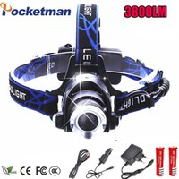 LED Headlight 3800lm XML- T6 Led Headlamp Zoom Head Flashligh...