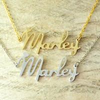 Collar de aleación personalizada Nombre Nombre Collar Nuevo estilo de fuente Elija cualquier nombre, joyería personalizada con corazón