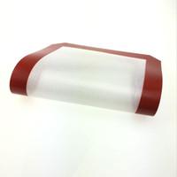 MOQ 2pcs tapis de silicone antiadhésifs rouges pour la cire 30 cm x 21 cm tapis de cuisson en silicone tapis de cuisson huile de cuisson cuire les tampons d'herbes sèches