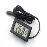 Mini thermomètre numérique LCD Hygromètre Température Humidité Mètre Thermomètre sonde blanc et noir en stock