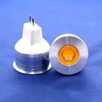 Dimmable GU4 MR11 DC12V 5W COB LED LED Luz Ahorro de energía Bombillas Frío Blanco Cálido blanco 100pcs / Lot