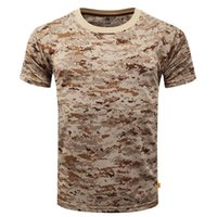 New Outdoor Hunting Camouflage T- shirt Men Breathable Army T...
