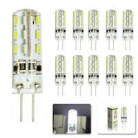 G4 LED Lamba SMD 3014 3 W DC 12 V 30 W yerine halojen lamba 360 Işın Açısı LED Ampul işık Kristal lamba avize aksesuarları