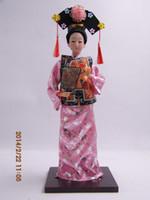 La serie della bambola della bambola del vestito dalla bambola del vestito dalla bambola di Qing della serie dell'alimento del vestito da Qing mostra