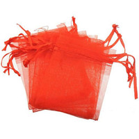 Sacos de jóias Bolsas de Presente Embalagem Pulseiras Colar Artesanato Display Lucancy Cordão Doces Cor Vermelho Rosa Amarelo Branco 7 * 9 cm 300 pcs