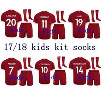 free shipping top quality kids kit + socks 2017 2018 Gerrard...