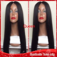 Cheap Full Lace Wigs Black Silky Straight Long Wigs for Blac...