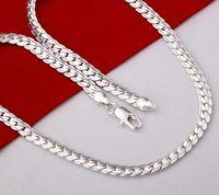 2017 neue Art und Weisehalskette versilbern die Schmucksache-Halskette der Männer / Silber überzogene Halskette freies Verschiffen G207