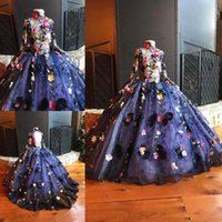 Colorful Handmade Flower Appliques Girls Pageant Gowns 2017 ...