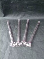 Pink straight pot glass bongs accessories long 15cm , Glass ...