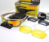 ESS ROLLBAR Polarized Tactical Sunglasses 4 Lens Outdoor Spo...