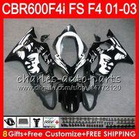 8 Regalo 23 Colores para HONDA CBR 600 F4i 01-03 CBR600FS FS 28HM18 Graffiti negro CBR600 F4i 2001 2002 2003 CBR 600F4i CBR600F4i 01 02 03 Fairing