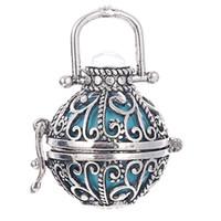 Moda Otwarcie Pływający Dźwięki Koraliki Wisiorki 22 * 22mm Hollow Cage Wisiorek Dla Kobiet Furmy Meksyk Harmony Kulki Naszyjnik Biżuteria