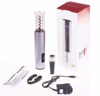 US-Stecker wiederaufladbarer elektrischer Weinöffner-Satz Automatischer Weinflaschenöffner schnurlos mit Folienschneider und Vakuumstopper