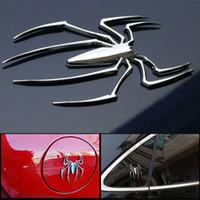 3D 차 스티커 범용 금속 거미 모양의 엠블럼 크롬 자동차 트럭 자동차 스티커 골드 / 실버 배지 데칼 스티커 자동차 스타일링