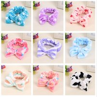 Brand new Flannel headdress beauty bow knot sports wash head...