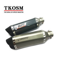 TKOSM Carbon Fiber Color 35-51mm Мотоцикл Akrapovic Глушитель выхлопных труб SC Escape Moto Exhaust CB400 TMAX530 CBR125 Z800