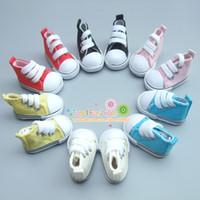 Um par de 5 cm Sapatos de Lona Para BJD Boneca Moda Mini Toy Shoes Bjd Boneca Sapatos para Russo Boneca Acessórios