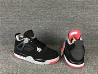 NEW Trainers high quality 4 Bred black red Low white men bas...