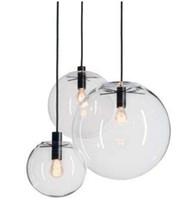 العصرية الشمال اللمعان غلوب قلادة الأنوار زجاج الكرة مصباح الظل شنقا مصباح e27 تعليق ضوء المطبخ تركيبات المنزل الإضاءة LLFA