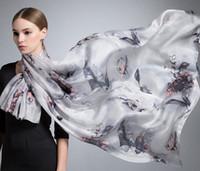Superbe 100% foulard en soie châle SCARF foulards écharpe 12pcs / lot # 1428