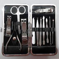Toptan-2016 Sıcak 12pcs / lot Manikür Set Tırnak Bakımı Pedikür Makas Cımbız Bıçak Kulak Seçim Programı Çiviler Clipper Takımı Paslanmaz Çelik Setleri