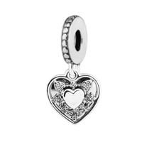 Pandulaso стерлингового серебра ювелирные изделия моя жена всегда ясно CZ бусины fit pandora браслет подвески для женщины ювелирных изделий День матери подарок