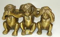 Colección Brass Voir Parler N'entendez Aucun Mal 3 Statues de Singe grand