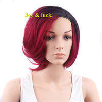 Free Shipping Synthetic Women Short Ombre Synthetic Wigs of ...