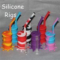 Venta caliente 100% Food Grade Silicon Dab Rigs silicona barril bongs silicona agua bong néctares de silicona envío gratis DHL
