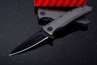 "Kershaw 2200 Grid Assisted Flipper 3. 7"" Black Blade, St..."