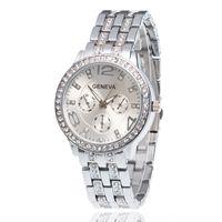 Наручные часы мода мужские часы бизнес кварцевые часы Женева Алмазная сталь часы личность повседневная мода платье часы Relogio W0120