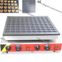 Ücretsiz Kargo Ticari Kullanım Yapışmaz 110 v 220 v Elektrikli 100 adet Hollandalı Poffertjes Mini Kalpler Gözleme Makinesi Baker Maker demir