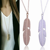 1pc Fashion Womens Vintage Long Necklace Jewelry Silver Plat...