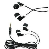 أرخص العالمي 100 قطعة / الوحدة الأسود في الأذن سماعات الأذن للهاتف الذكي ، سماعات الهاتف المحمول mp3 mp4 3.5 ملليمتر الصوت