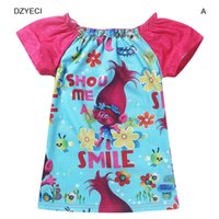 Trolls Costume For Baby Girl T Shirt Clothes Poppy Kid Short...