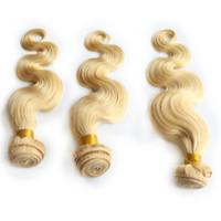 Pure 613 Blonde Corps Vague de Cheveux Humains Trames Bundles Vague de Corps Cheveux 3 Bundles Extension Cheveux