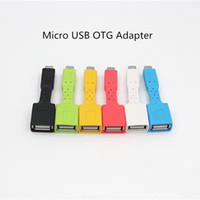 Mini Mikro USB OTG Kablosu Renkli Erkek Kadın OTG Adaptörü Perakende Paketi Ile Samsung Blackberry HTC LG Için