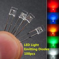 Migliore promozione 100Pcs 2x3x4mm Grandangolare Flat Top LED quadrato diodi ad emissione d'acqua Clear Clear Light Lamp Rectangle