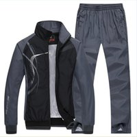 도매 - 남자의 스포츠 남자 스포츠 정장 브랜드 운동복 kocogas 후드 스웨터 망 재킷 + 바지 2 개 5XL 플러스 SIZ