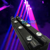 저렴 한 중국 이동 머리 10Wx8 Luminus 화이트 / RGBW 4 Leds 더블 행 LED 빔 빛 DMX 무대 세탁기 발동기, 2PCS / Lot, FreeShip