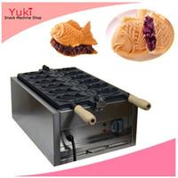Machine de gâteau en forme de poisson de 6 pcs électrique de 6 pcs de poissons de poisson machine de gâteau à gâteau de sandwich commercial Taiyaki Machine Taiyaki Pan