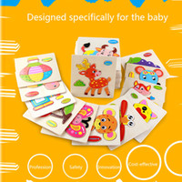 Animal Transport Fruit Multi-dimensional 3D Jigsaw Bloque de madera ChildrenToy for Children Early Educational Montessori Toys