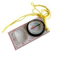 Vente en gros à chaud extérieur Baseplate Règle Compass Scouts Camping Randonnée Carte Échelle Boussole Distance Loupe Caculating Direction Guide de l'outil