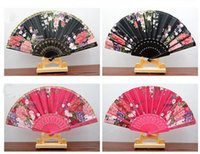 """9 """" Женщины складной ручной вентиляторы, Spainish стиль кружева печатных шаблон складные вентиляторы для украшения свадебный подарок ремесла проп вентилятор (многоцветный)"""